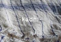 New item;手紬ぎ手織り伝統生地カディ