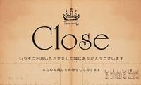 Close;臨時休業のお知らせ